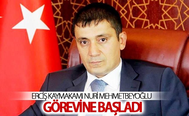 Erciş Kaymakamı Nuri Mehmetbeyoğlu görevine başladı