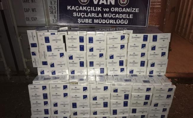 Gevaş'ta 10 bin paket kaçak sigara ele geçirildi