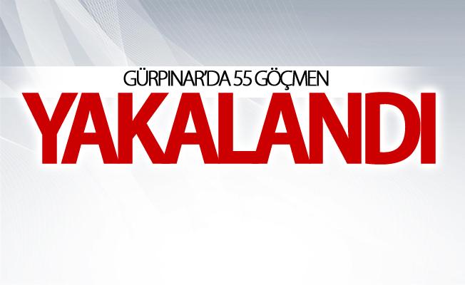 Gürpınar'da 55 göçmen kaçak yakalandı