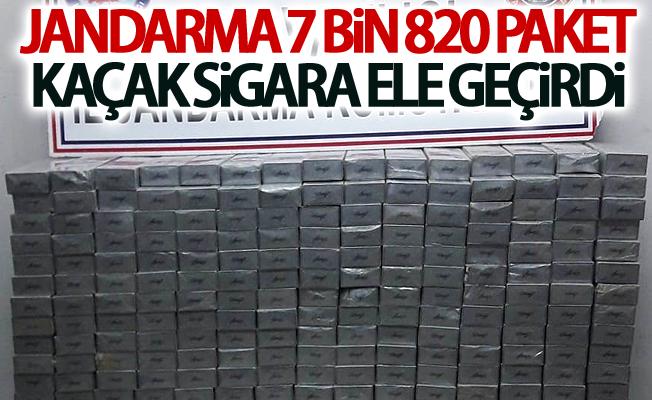 Jandarma 7 bin 820 paket kaçak sigara ele geçirdi