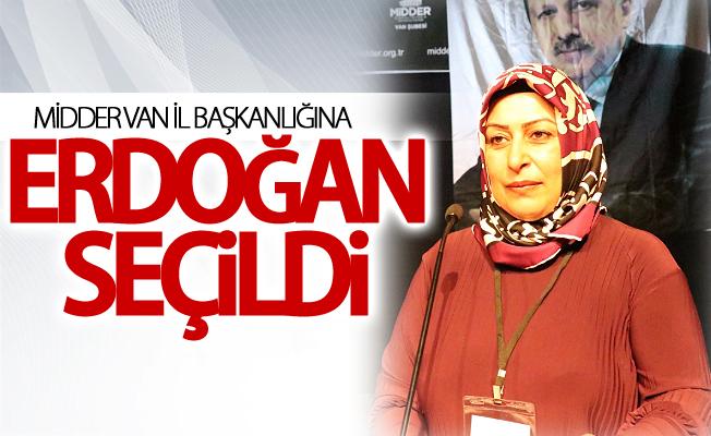MİDDER Van İl Başkanlığına Erdoğan seçildi