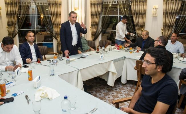 Vali Yardımcısı Parlak için veda yemeği