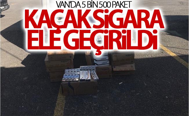 Van'da 5 bin 500 paket kaçak sigara ele geçirildi