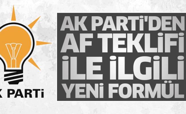 AK Parti'den af teklifi ile ilgili yeni formül