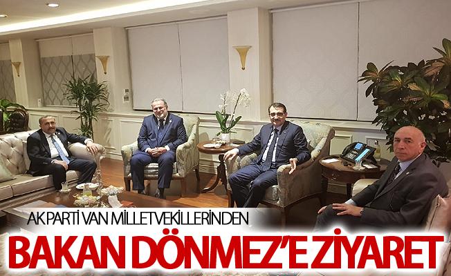Ak Parti Van milletvekillerinden Bakan Dönmez'e ziyaret