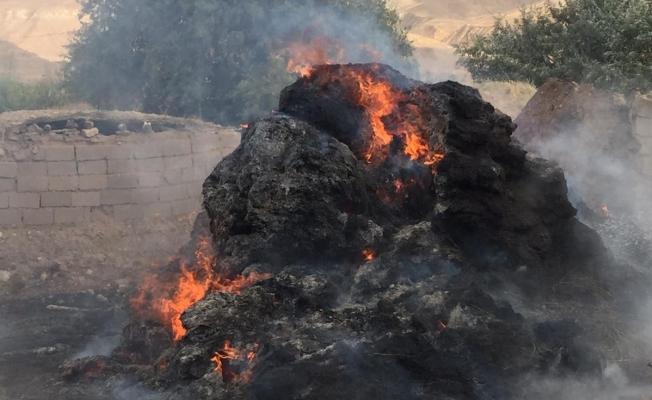 Başkale ot yangını
