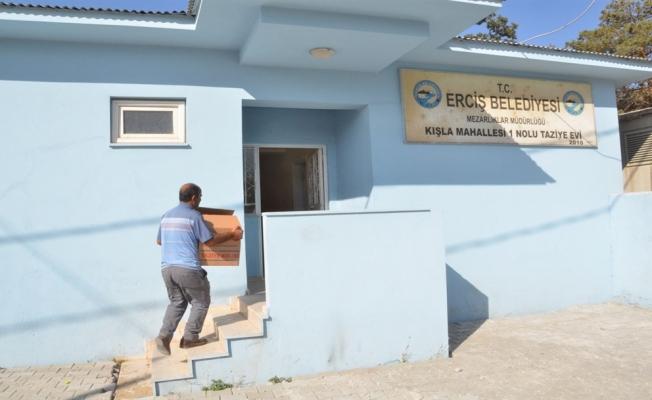 Erciş Belediyesinden taziye evlerine yardım