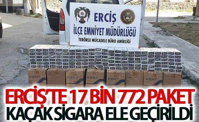 Erciş'te 17 bin 772 paket kaçak sigara ele geçirildi
