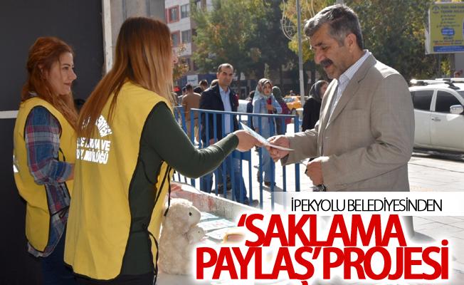 İpekyolu Belediyesinden 'Saklama Paylaş' projesi