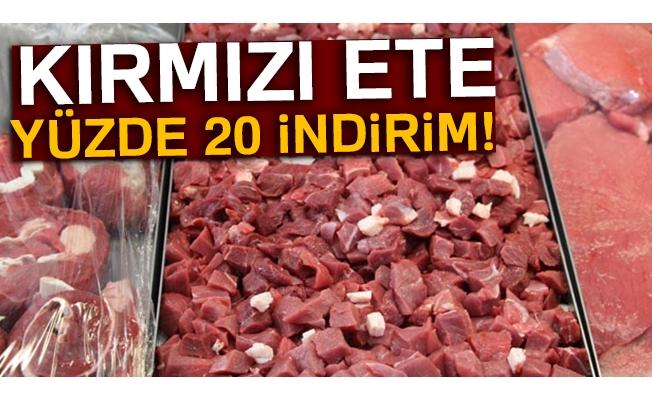 Kırmızı ete yüzde 20 indirim!