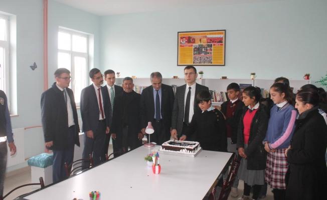 Saray'da kütüphane açılışı