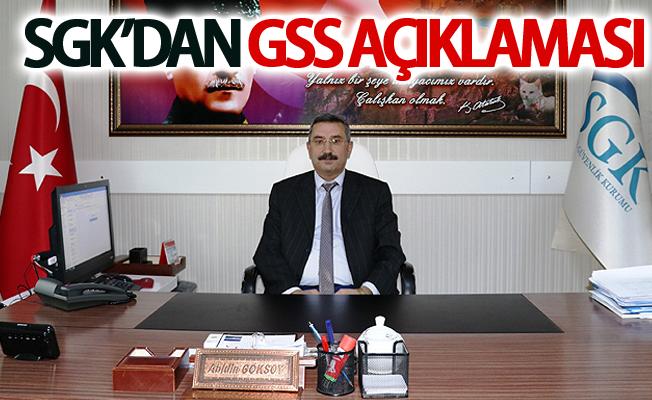 SGK'dan GSS açıklaması