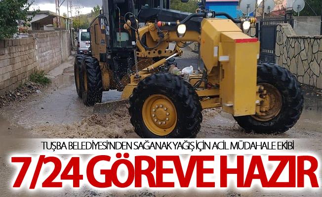 Tuşba Belediyesi'nden sağanak yağış için acil müdahale ekibi 7/24 göreve hazır