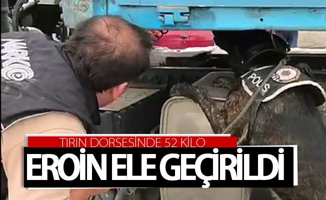Van'da bir tırın dorsesinde 52 kilo eroin ele geçirildi