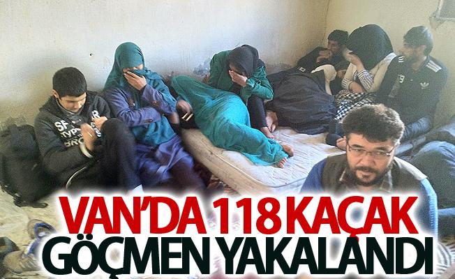 Van'da 118 kaçak göçmen yakalandı
