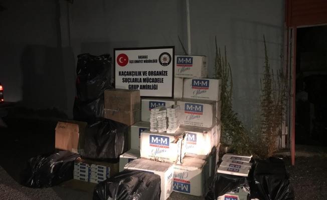 Van'da 19 bin paket kaçak sigara ele geçirildi