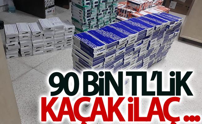 Van'da 90 bin TL'lik kaçak ilaç ele geçirildi