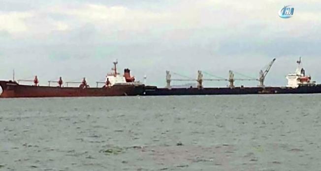 Yenikapı açıklarında iki gemi çarpıştı!