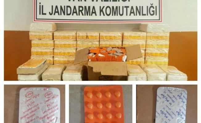 Van'da 670 bin TL değerinde 112 bin 241 adet tıbbi ilaç ele geçirildi