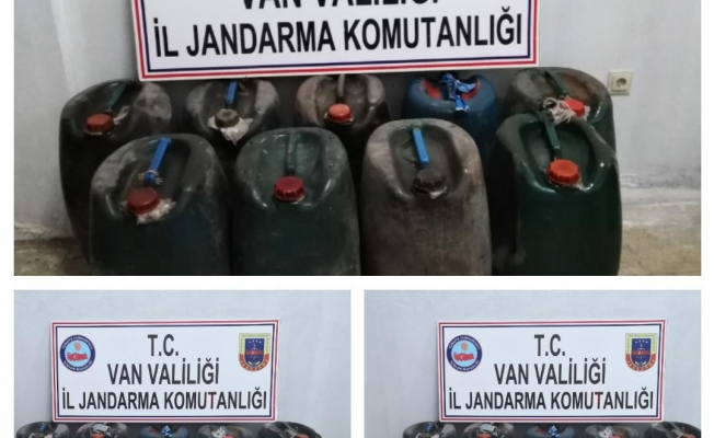 Van'da bin 260 litre kaçak mazot ele geçirildi