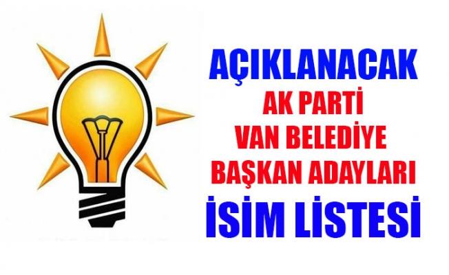 AK Parti'nin Van'ın ilçelerinde aday gösterilecek isimler