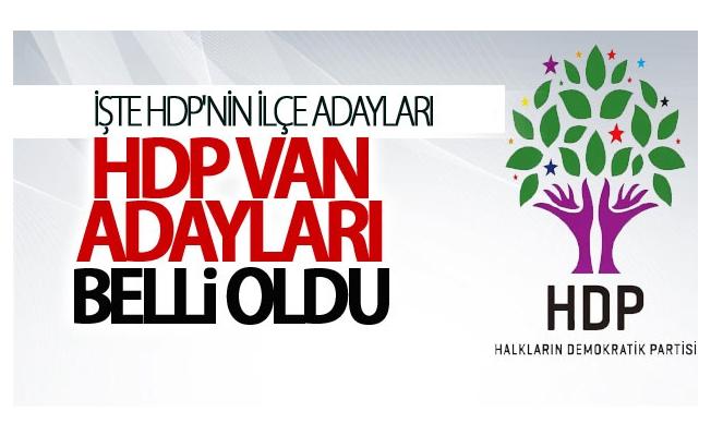 HDP Van Belediye Başkan Adayları Belli Oldu