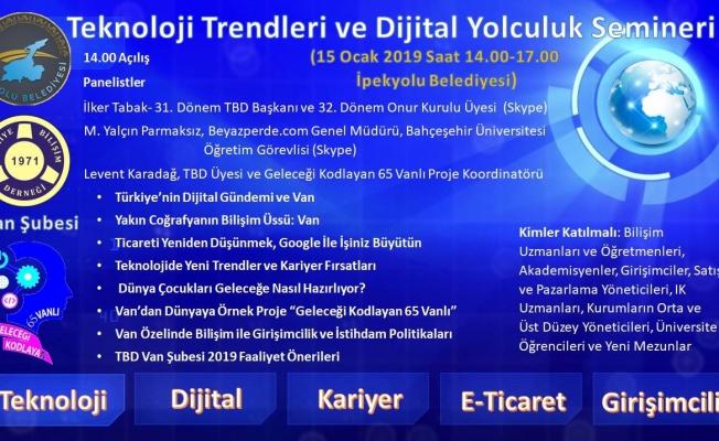 İpekyolu Belediyesinden 'Teknoloji Trendleri ve Dijital Yolculuk' semineri