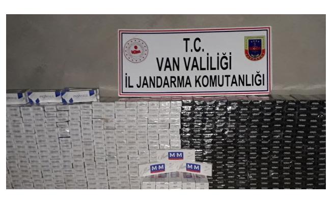 Van'da 11 bin 150 paket kaçak sigara ele geçirildi