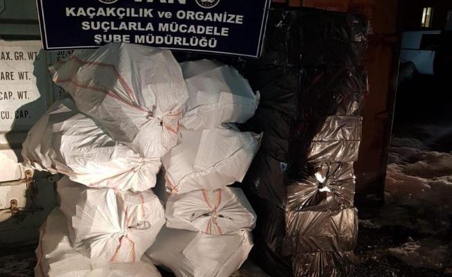 Van'da 13 bin 500 paket kaçak sigara ele geçirildi