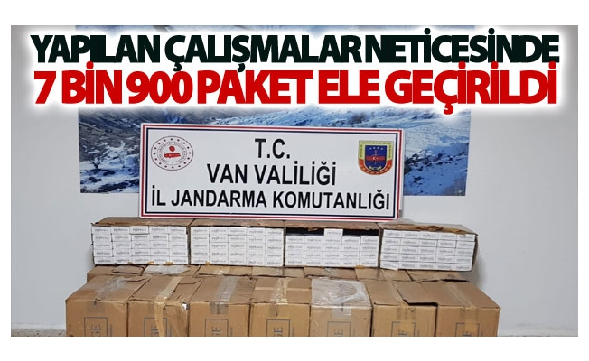 Van'da 7 bin 900 paket kaçak sigara ele geçirildi