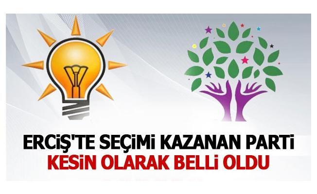 Erciş'te hangi parti kazandı AK Parti mi HDP mi?