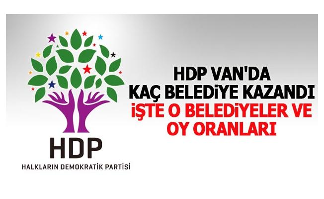 HDP'nin Van'da kazandığı ilçeler ve oy oranları?