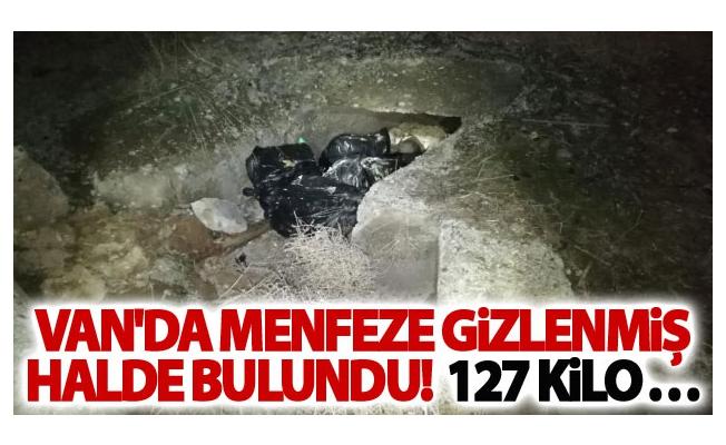 Menfeze gizlenen 127 kilo eroin ele geçirildi