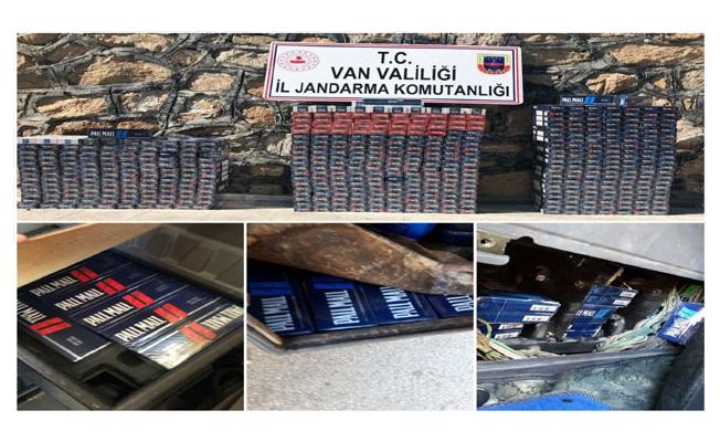 Gevaş ve Başkale'de 7 bin 430 paket kaçak sigara ele geçirildi