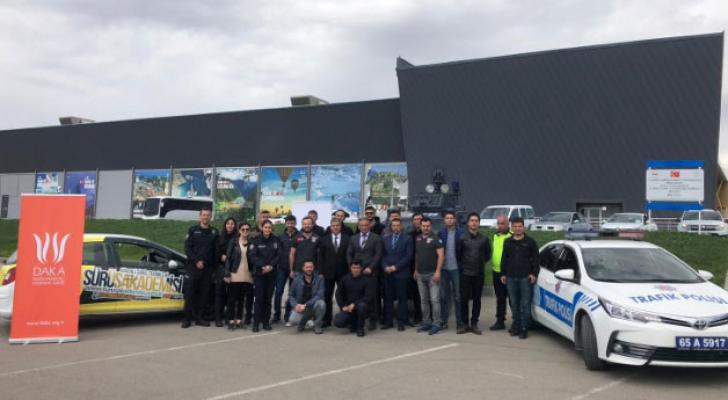 Van İl Emniyet Müdürlüğü personeline 'İleri Sürüş Teknikleri' eğitimi