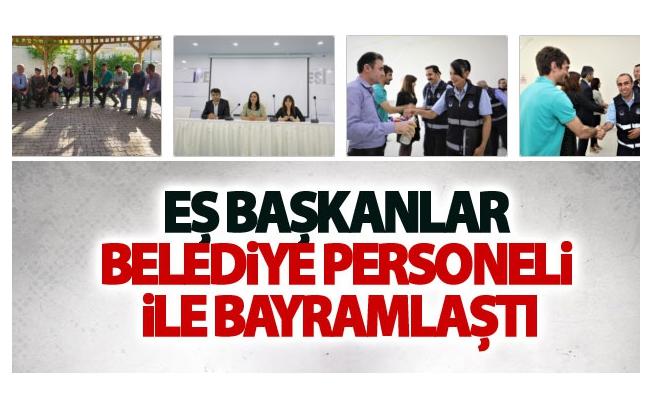 Eş Başkanlar Belediye Personeli İle Bayramlaştı