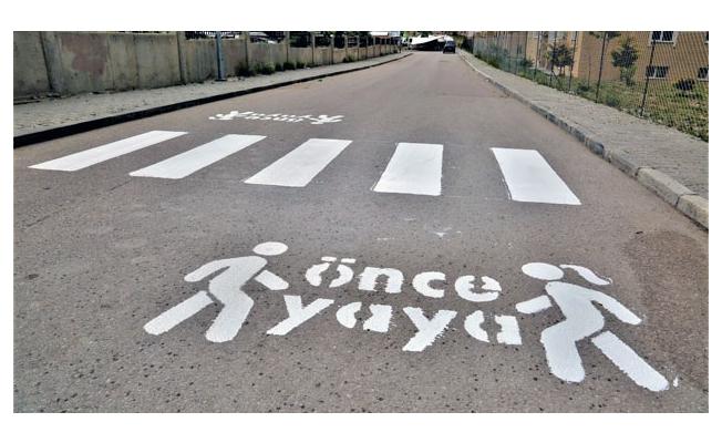 Tuşba'da 'Öncelik Hayatın Öncelik Yayanın' çizgi çalışması