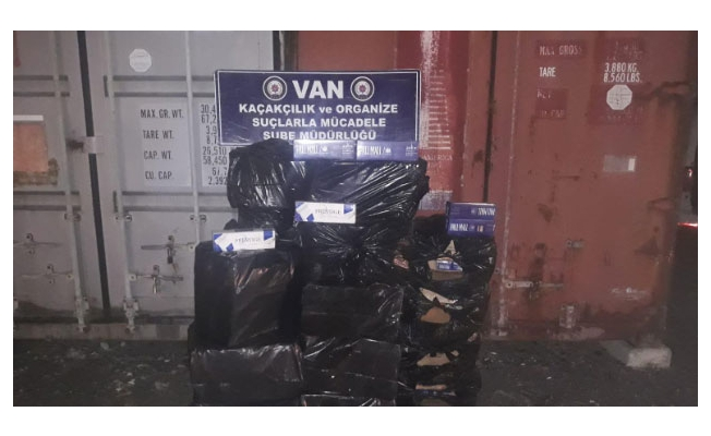 Van'da 10.970 paket kaçak sigara ele geçirildi