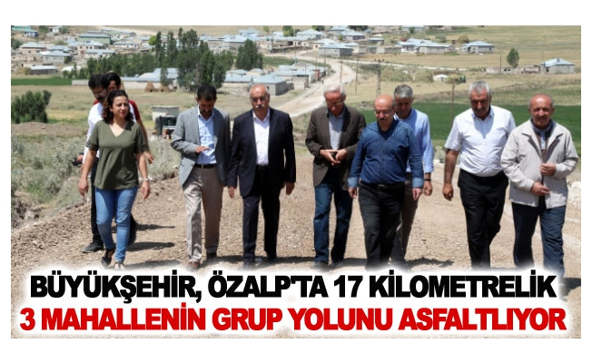 Büyükşehir, Özalp'ta 17 kilometrelik 3 mahallenin grup yolunu asfaltlıyor