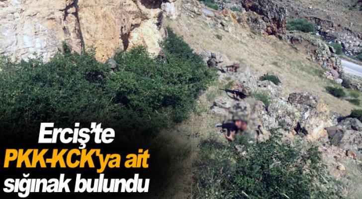 Erciş'te PKK-KCK'ya ait sığınak bulundu