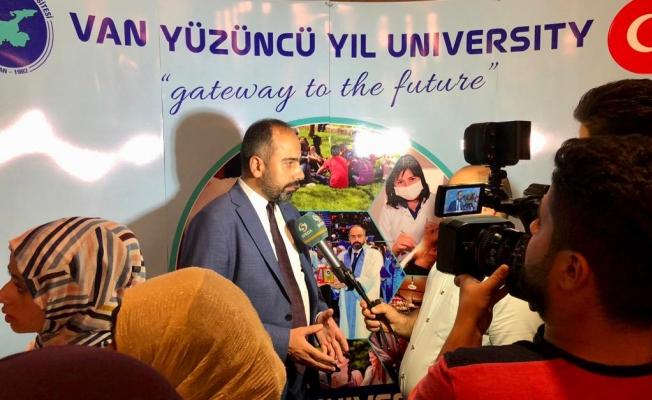 Rektör Şevli Irak'ta Üniversite Fuarına Katıldı