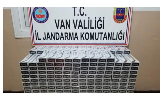 Sınır hattında 5 bin paket kaçak sigara ele geçirildi