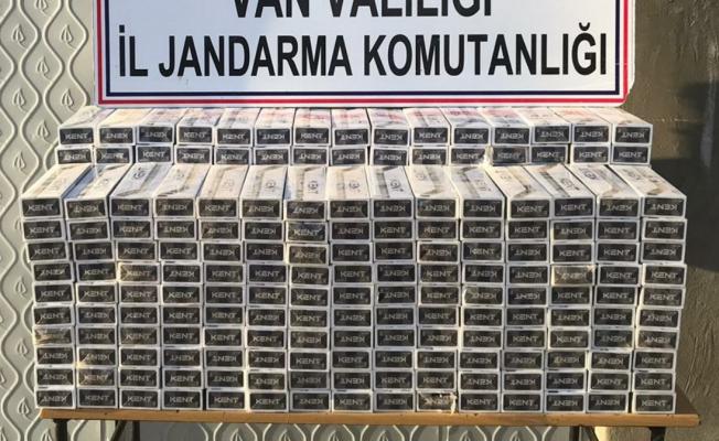 Çaldıran'da 4 bin 800 paket kaçak sigara ele geçirildi