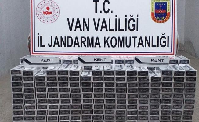 Erciş'te 4000 paket kaçak sigara ele geçirildi