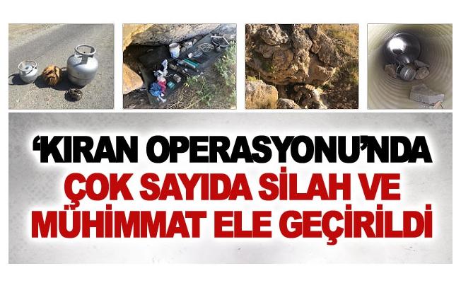 'Kıran Operasyonu'nda çok sayıda silah ve mühimmat ele geçirildi