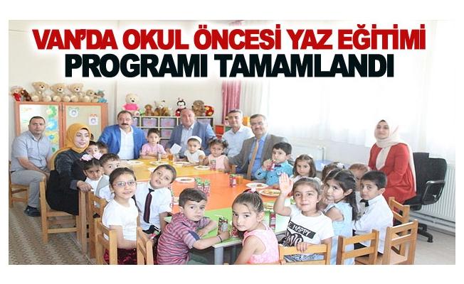 Van'da Okul Öncesi Yaz Eğitimi Programı Tamamlandı