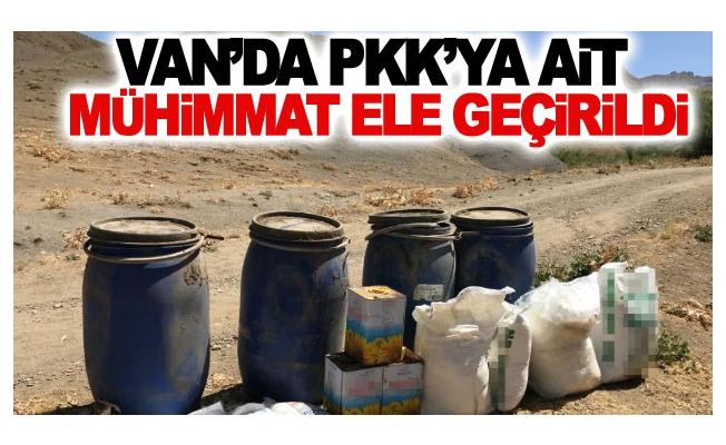 Van'da PKK'ya ait mühimmat ele geçirildi