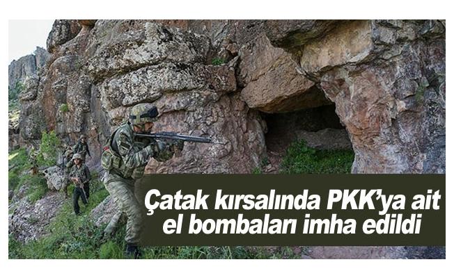 Çatak kırsalında PKK'ya ait el bombaları imha edildi