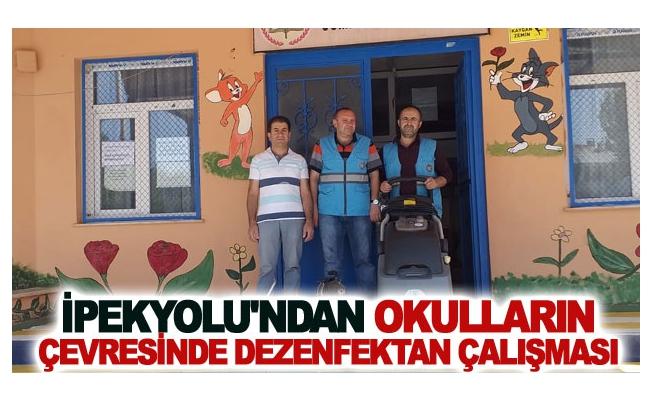 İpekyolu'ndan Okulların çevresinde dezenfektan çalışması