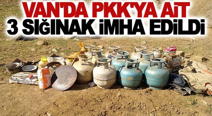 Van'da PKK'ya ait 3 sığınak imha edildi